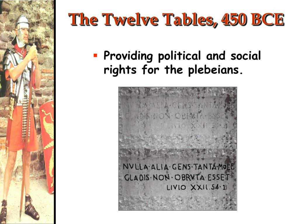 The Twelve Tables, 450 BCE