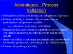 advantages process validation