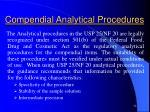 compendial analytical procedures