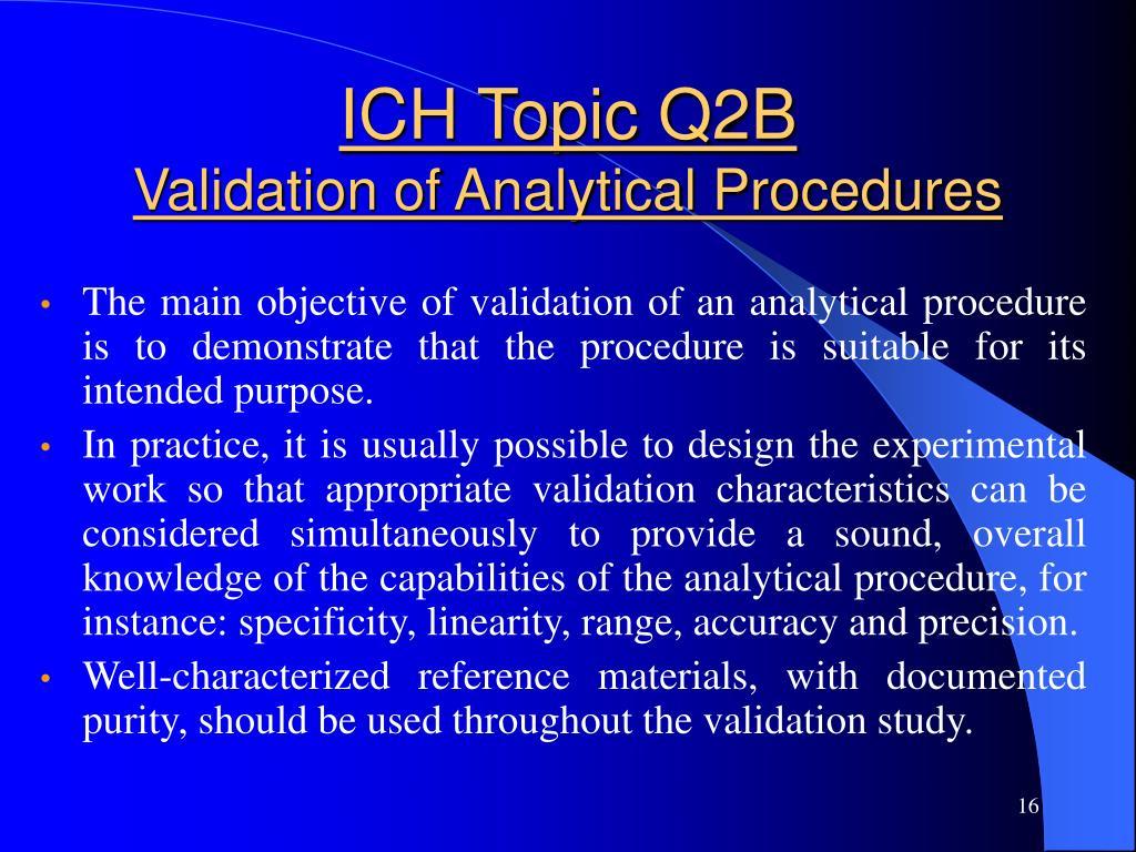 ICH Topic Q2B