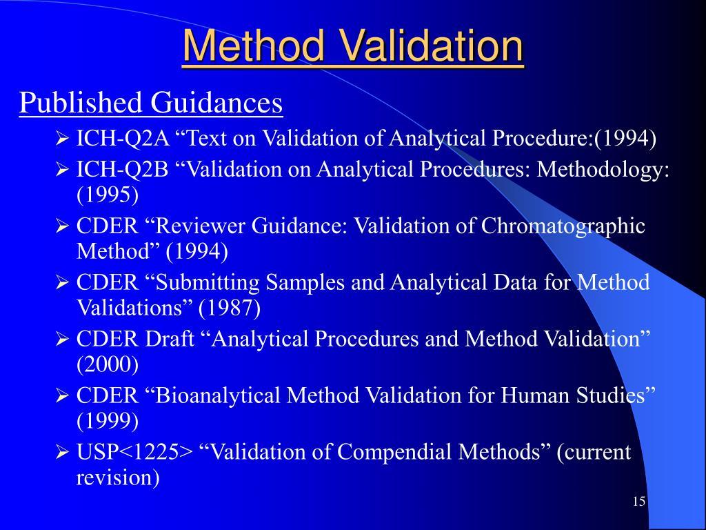 Method Validation