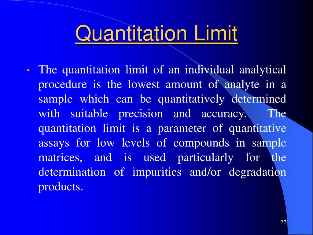 Quantitation Limit