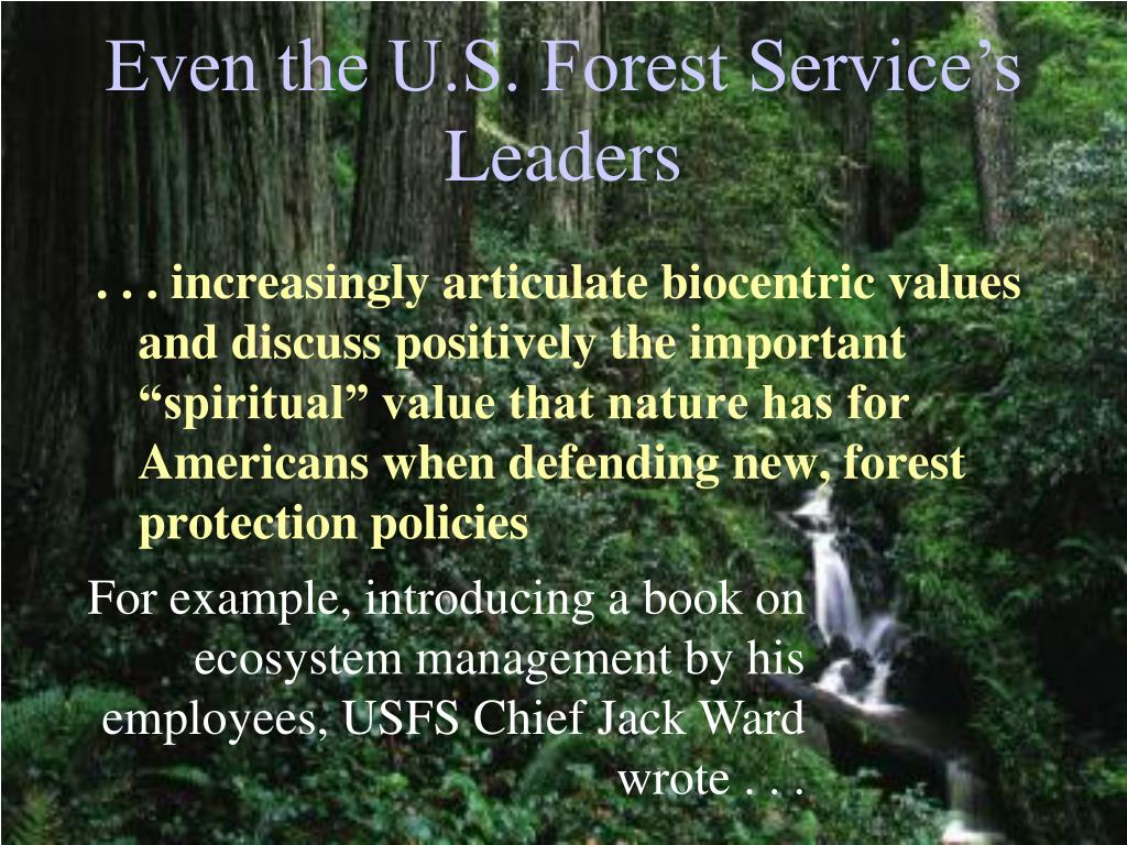 Even the U.S. Forest Service's Leaders
