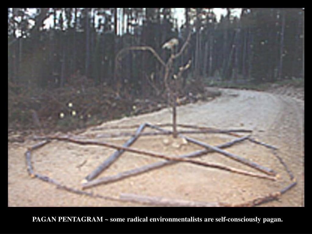 PAGAN PENTAGRAM ~ some radical environmentalists are self-consciously pagan.