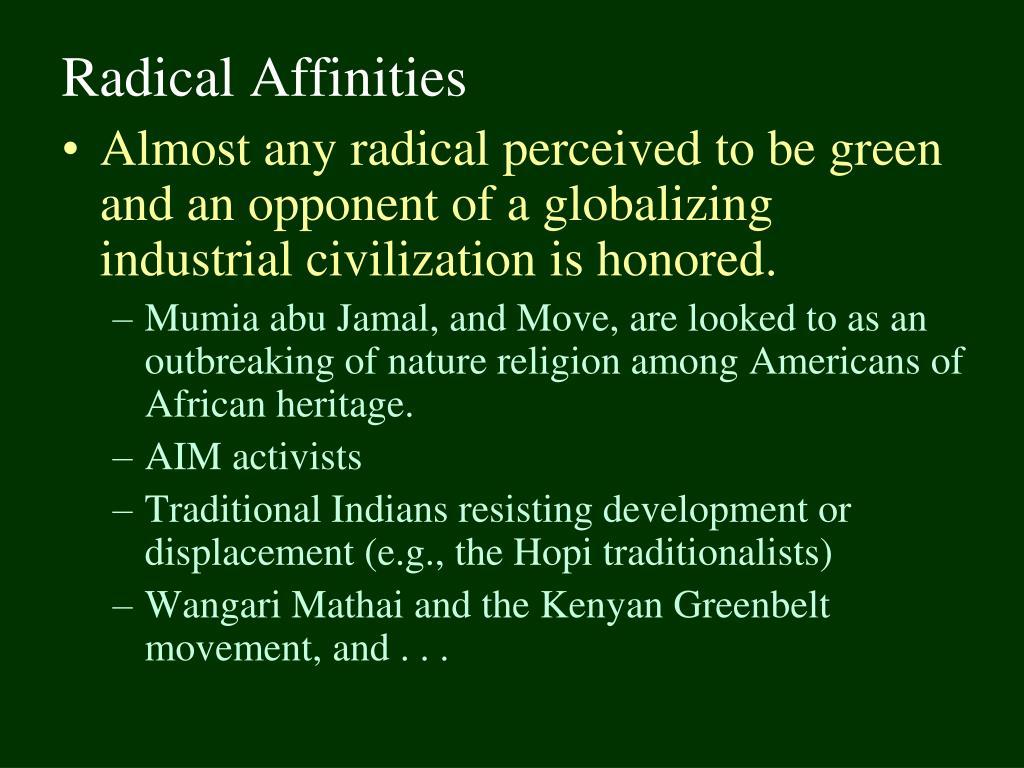 Radical Affinities