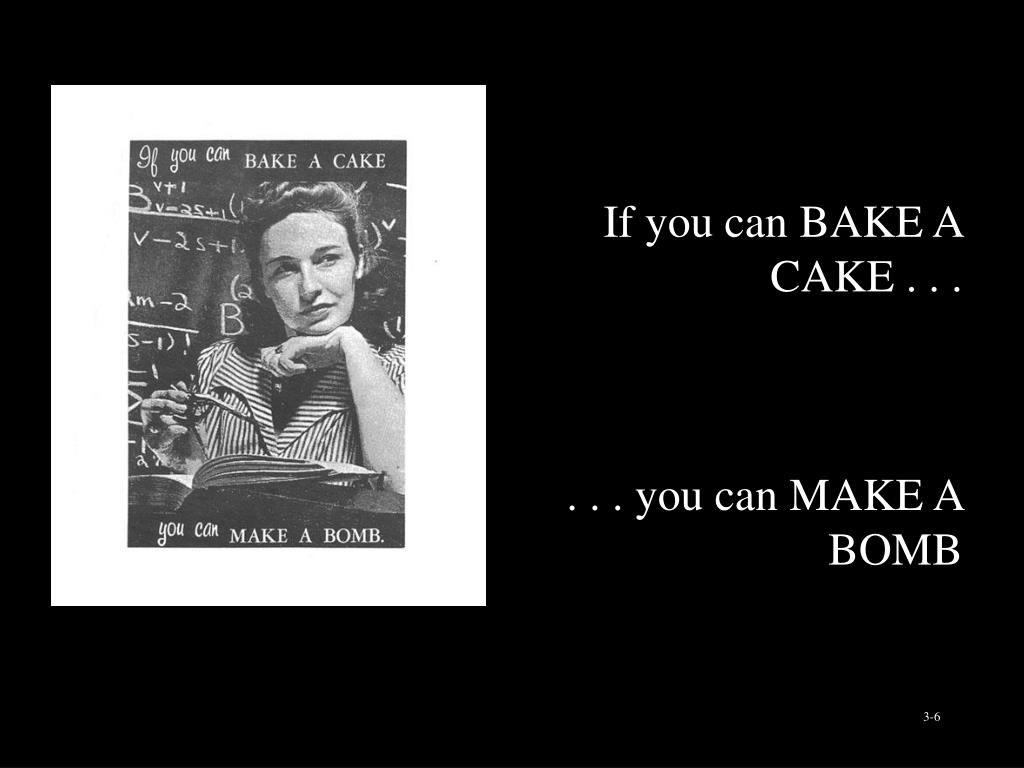 If you can BAKE A CAKE . . .