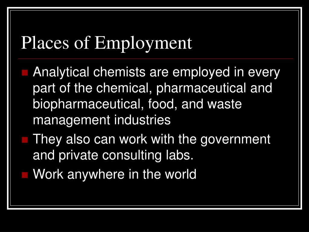 Places of Employment