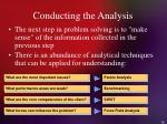conducting the analysis36