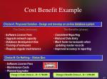 cost benefit example