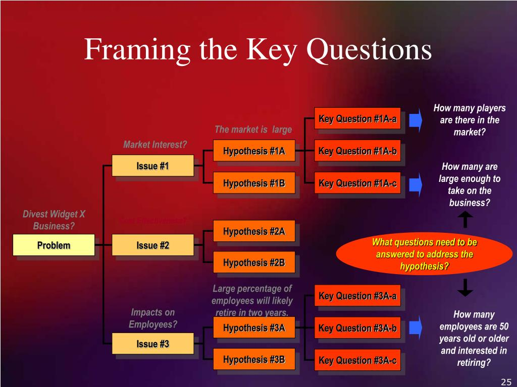 Framing the Key Questions
