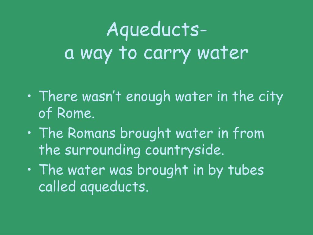 Aqueducts-