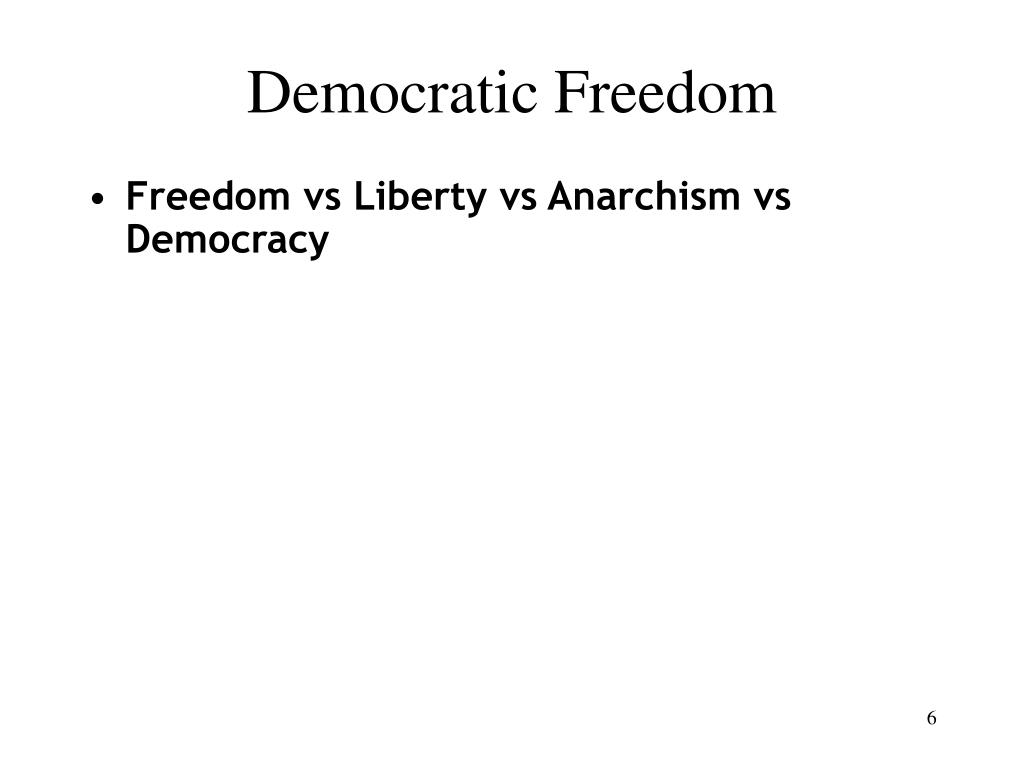 Democratic Freedom