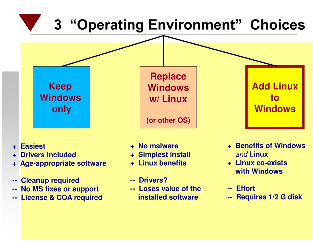 "3  ""Operating Environment""  Choices"