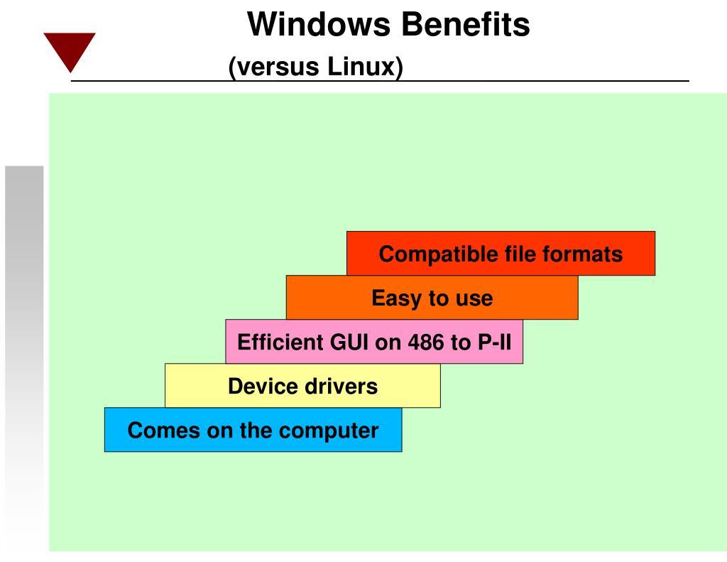 Windows Benefits