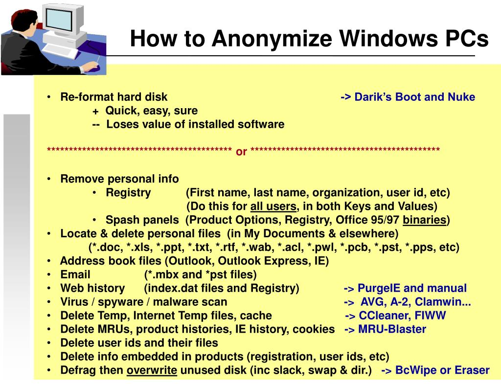 How to Anonymize Windows PCs