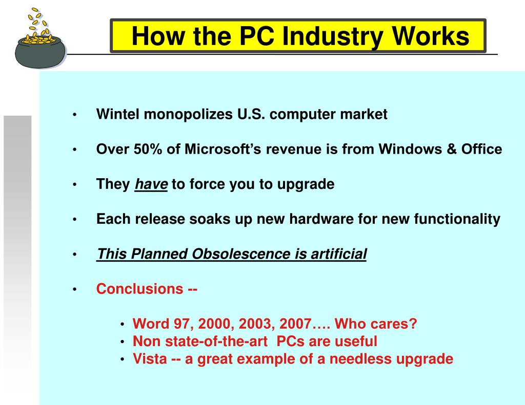 How the PC Industry Works