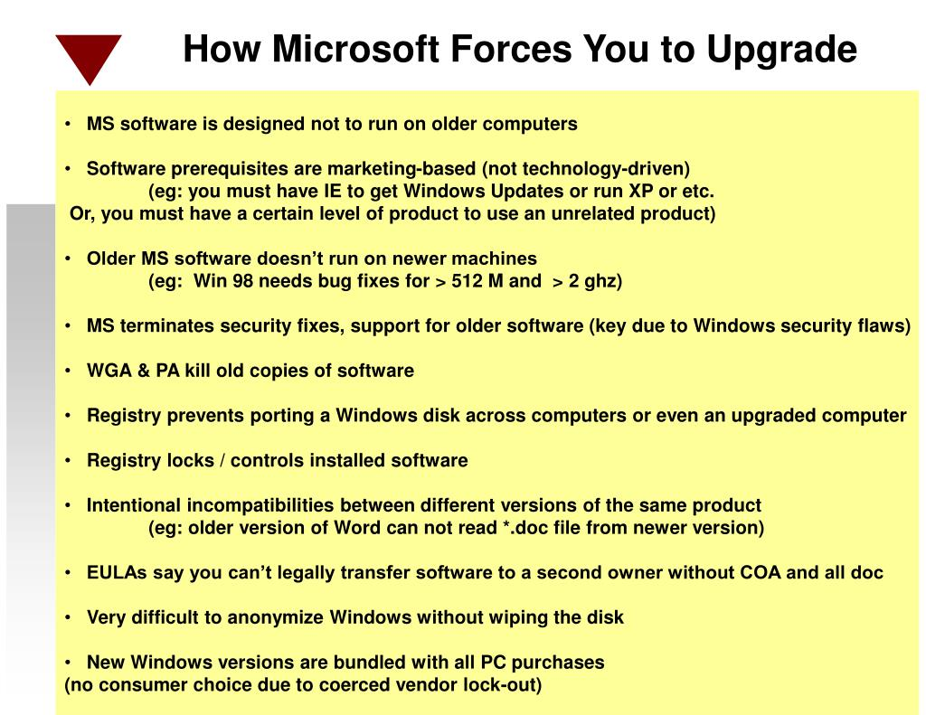 How Microsoft Forces You to Upgrade