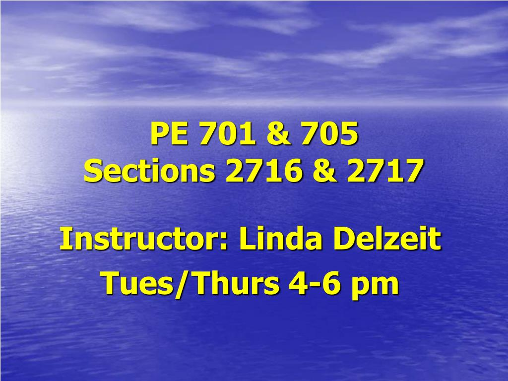 pe 701 705 sections 2716 2717