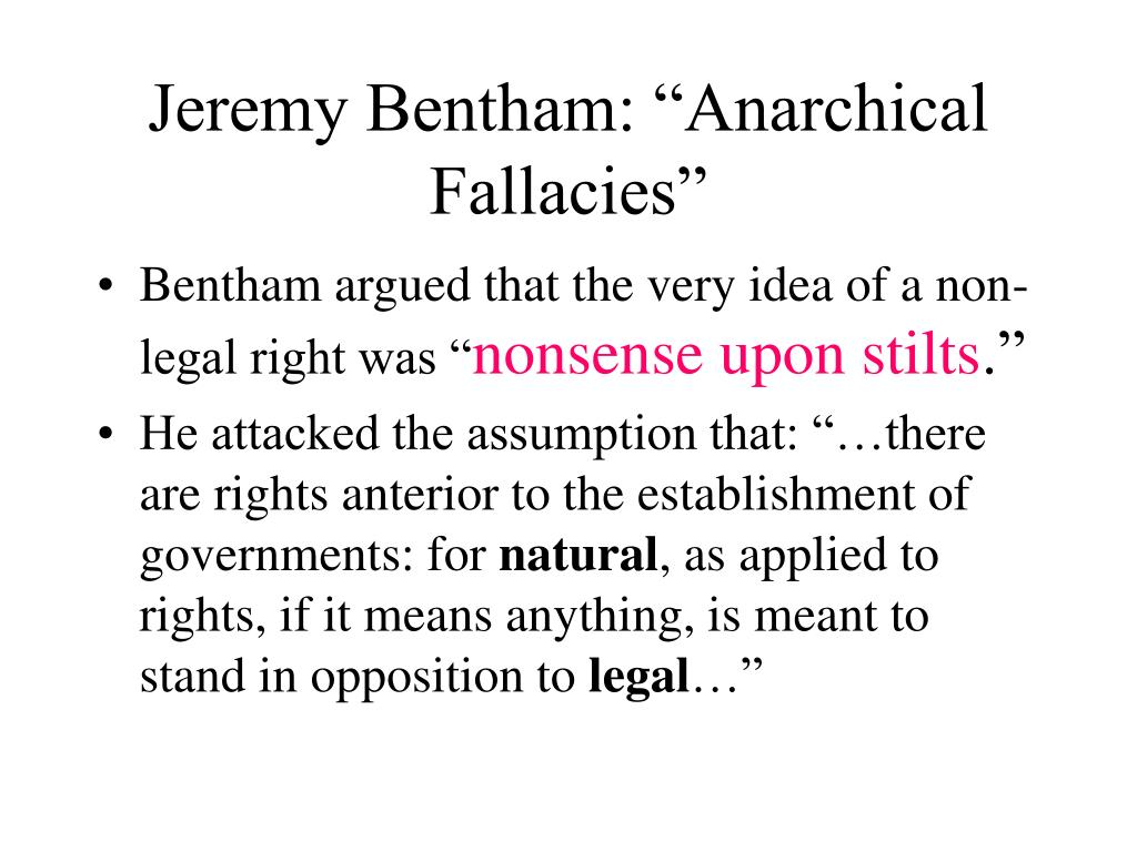 "Jeremy Bentham: ""Anarchical Fallacies"""