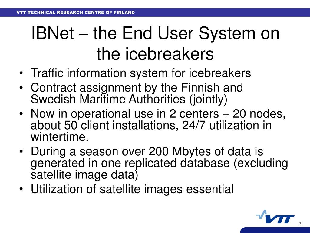 IBNet – the End User System on the icebreakers