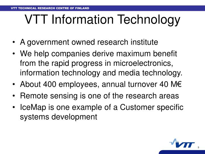 Vtt information technology