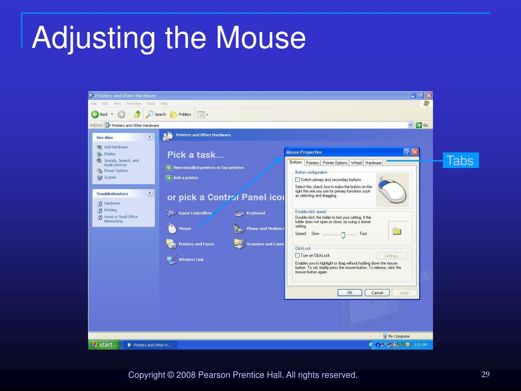 Adjusting the Mouse