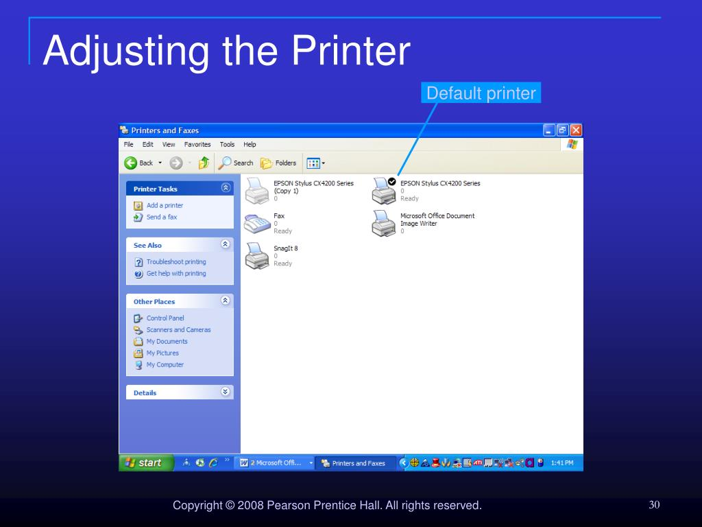 Adjusting the Printer