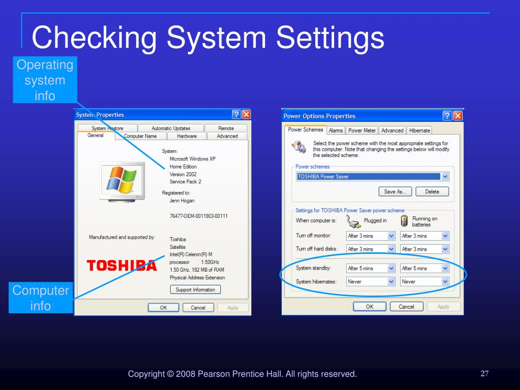 Checking System Settings