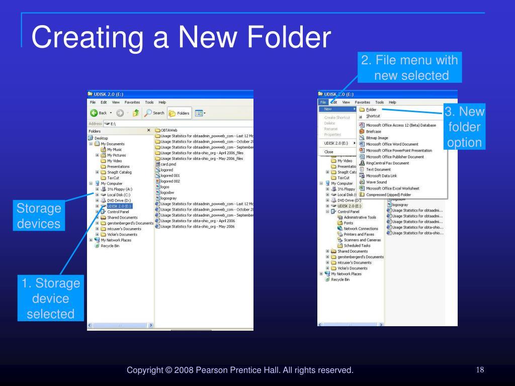 Creating a New Folder