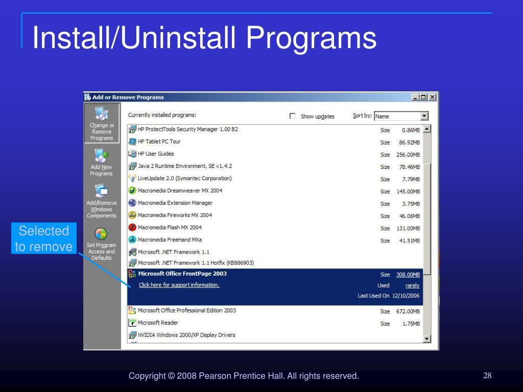 Install/Uninstall Programs