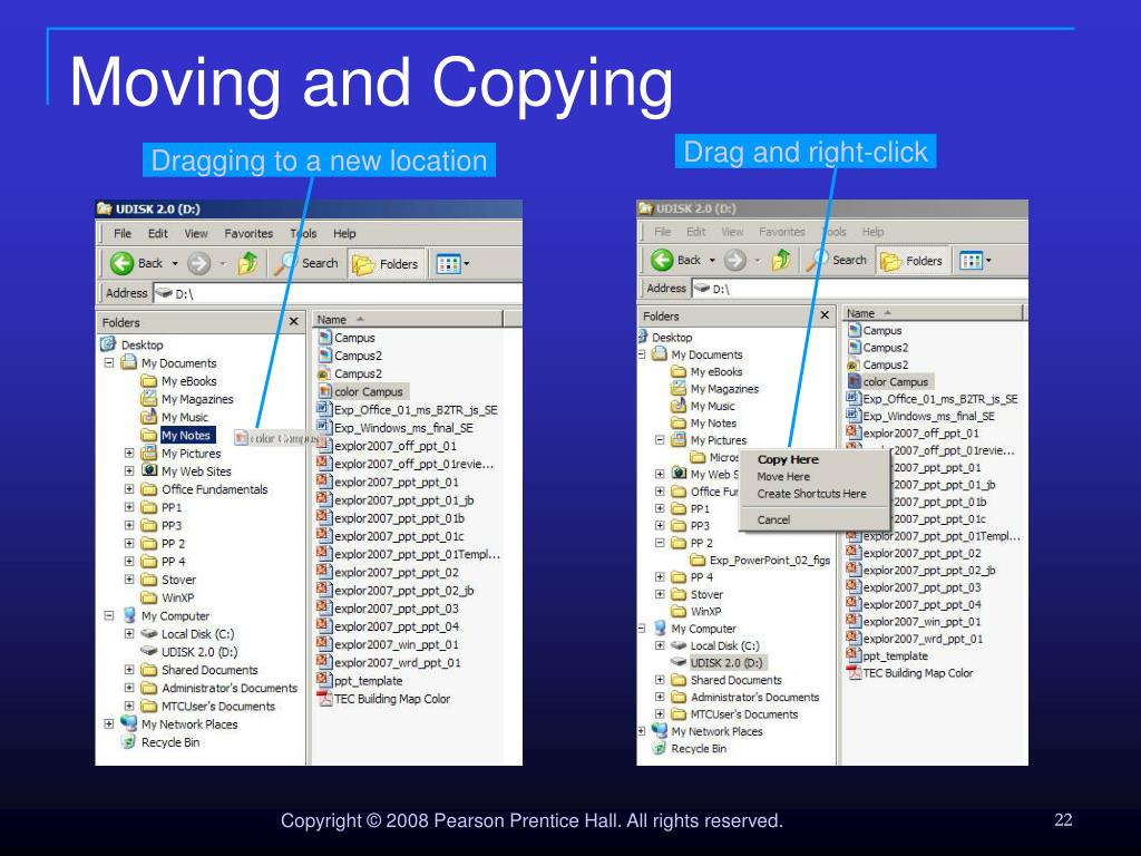 Moving and Copying
