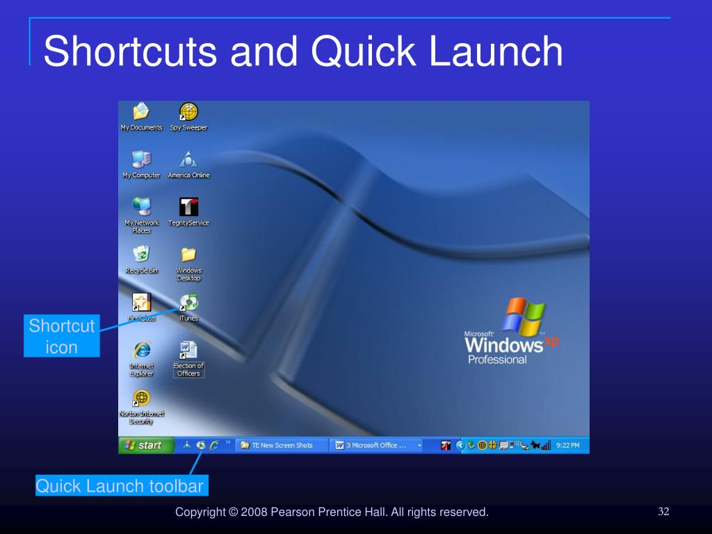 Shortcuts and Quick Launch