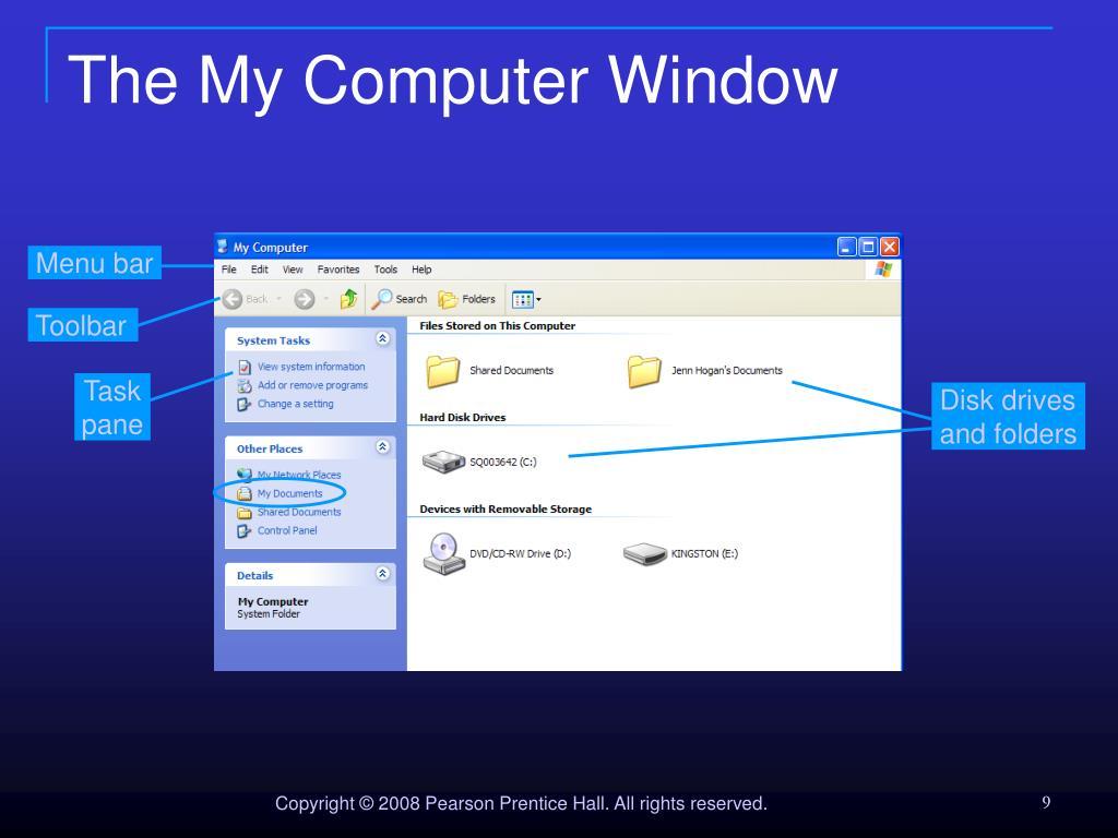 The My Computer Window
