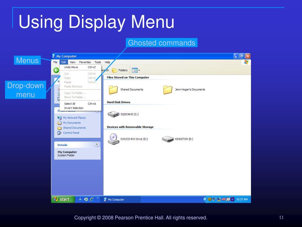 Using Display Menu