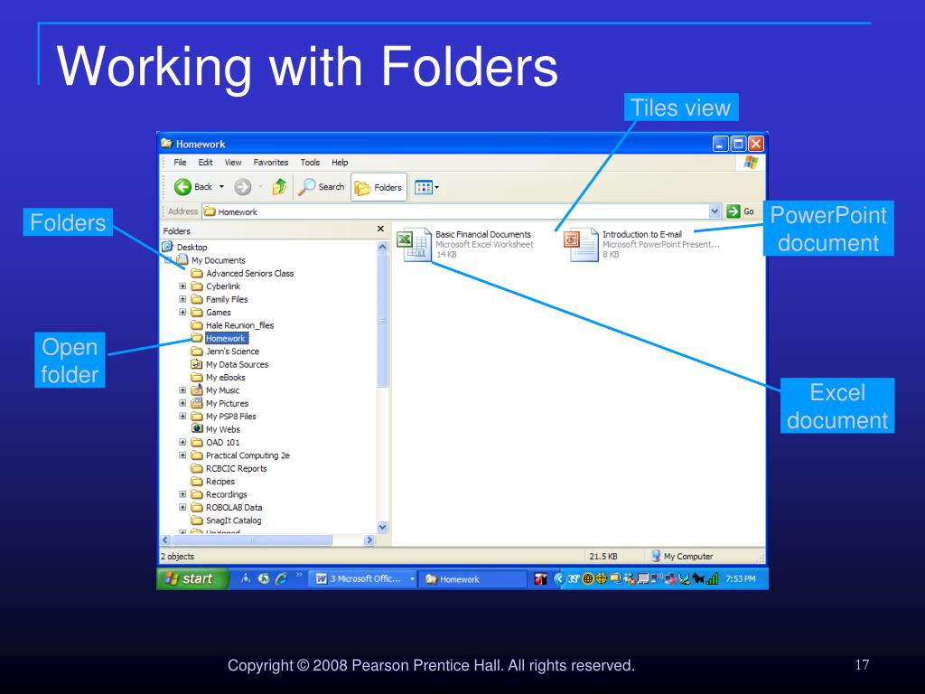 Working with Folders
