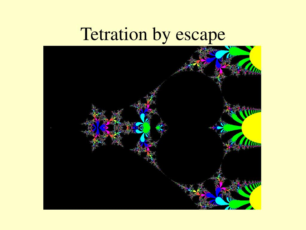Tetration by escape