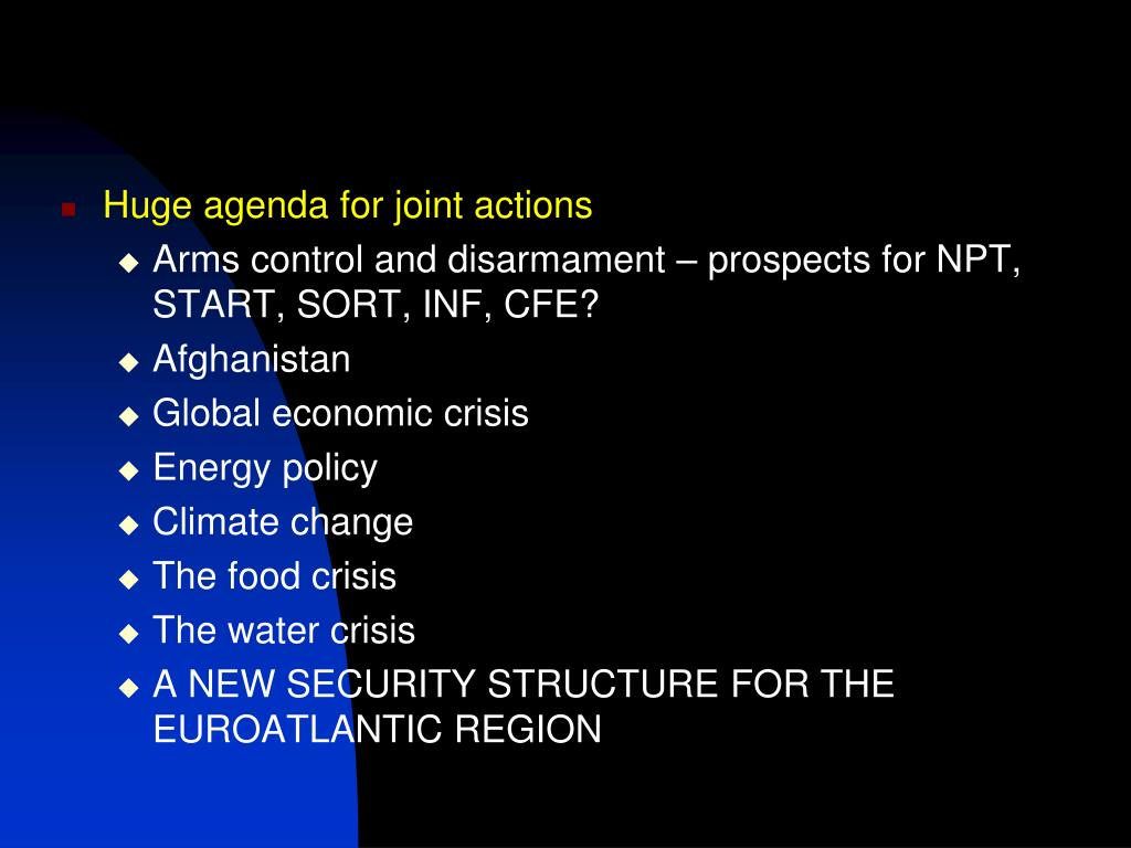 Huge agenda for joint actions
