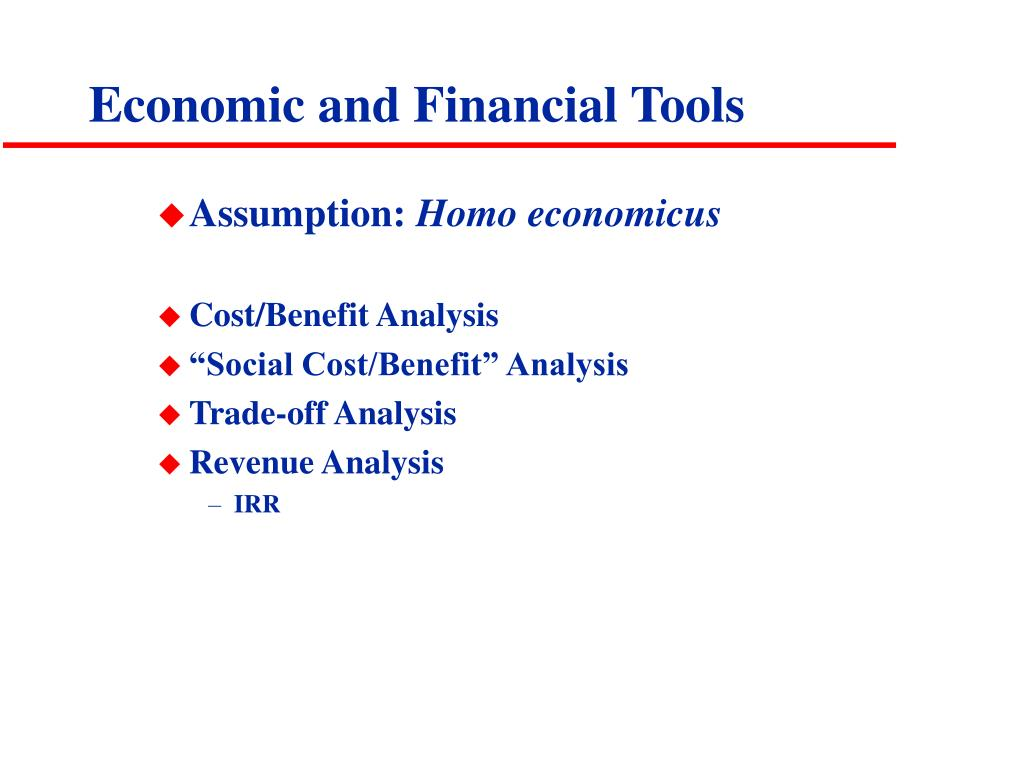 Economic and Financial Tools