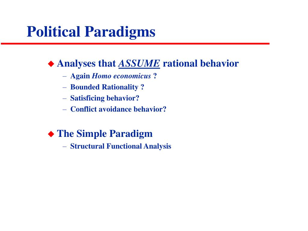 Political Paradigms