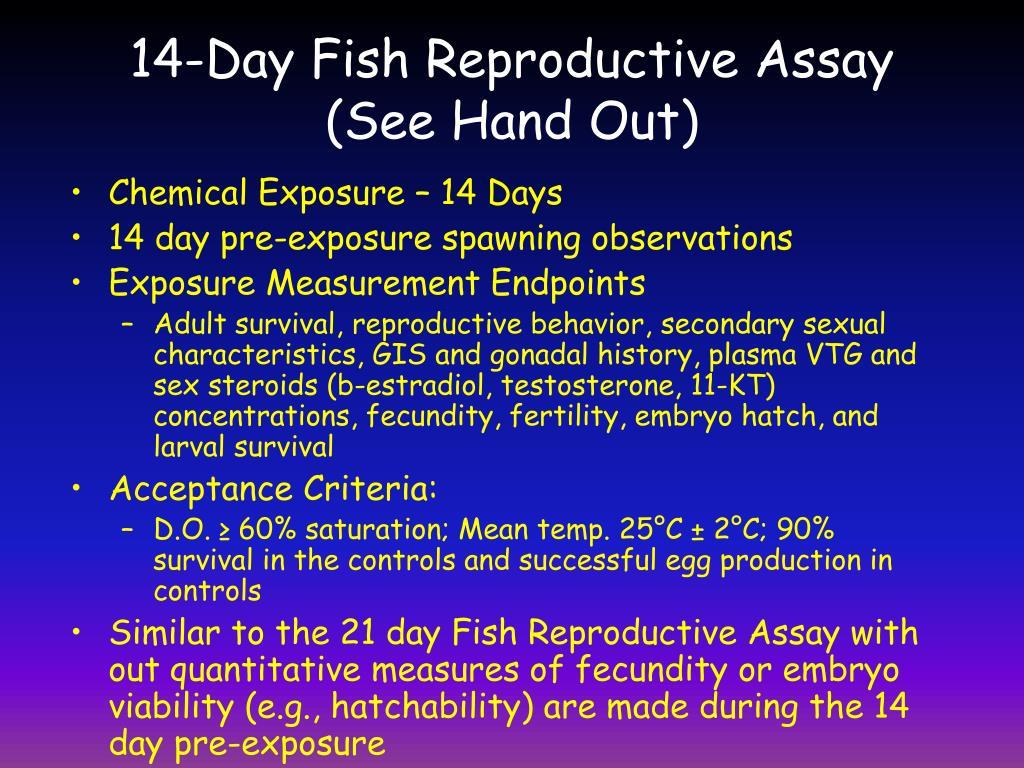 14-Day Fish Reproductive Assay