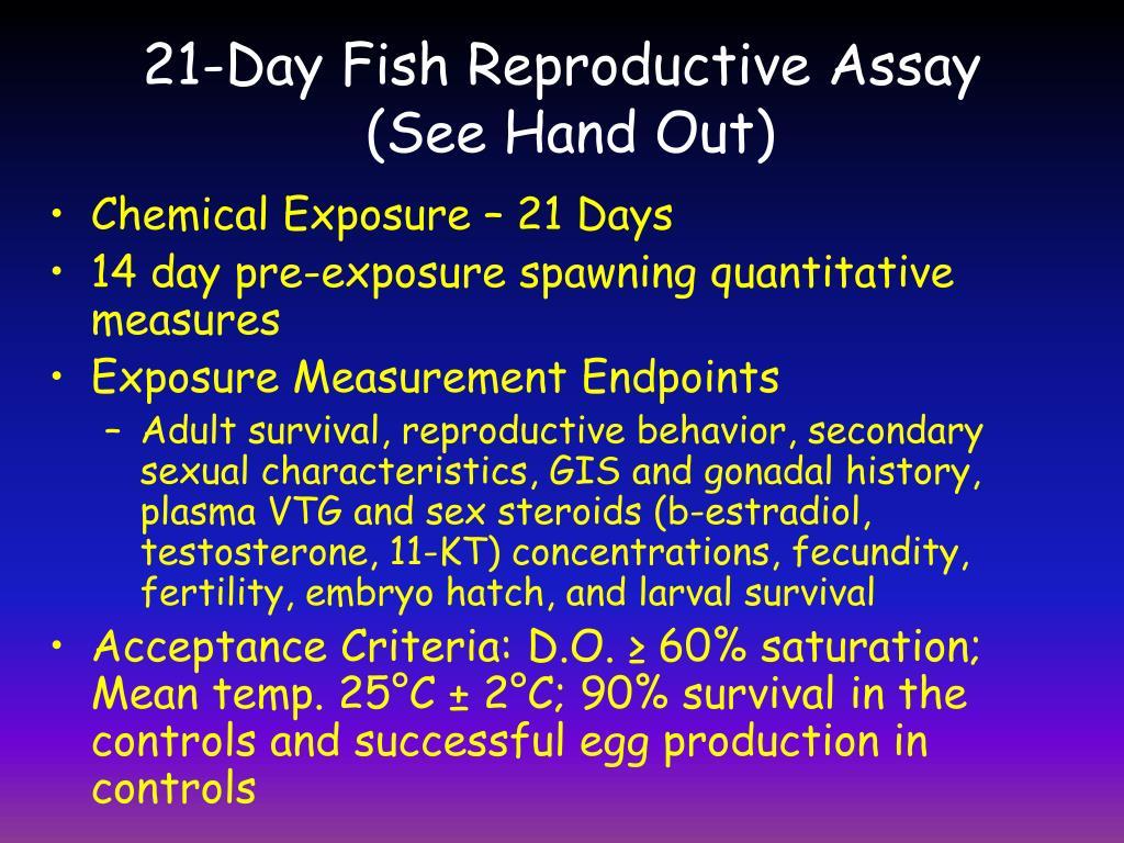 21-Day Fish Reproductive Assay