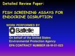 detailed review paper fish screening assays for endocrine disruption