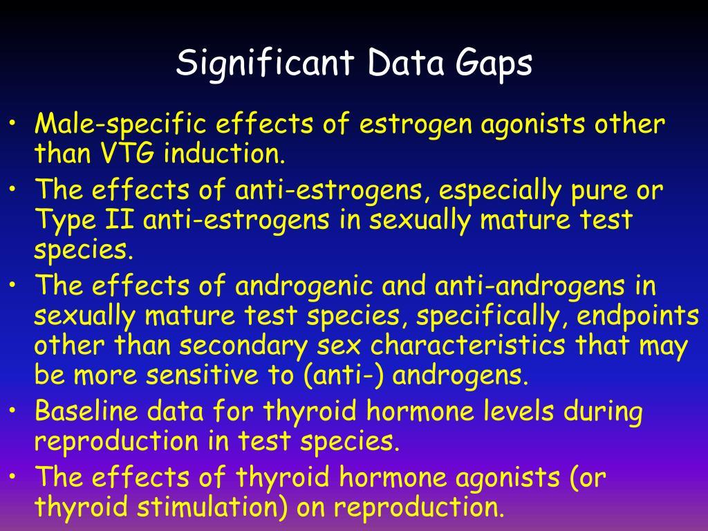 Significant Data Gaps