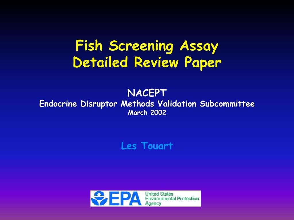 Fish Screening Assay
