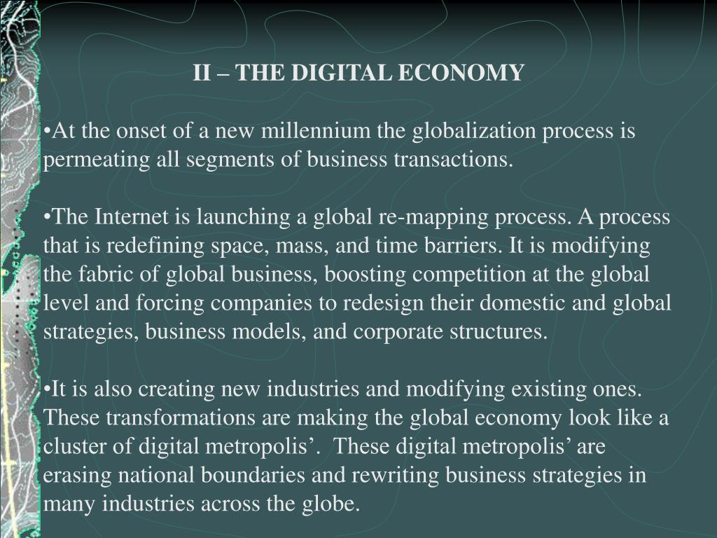II – THE DIGITAL ECONOMY
