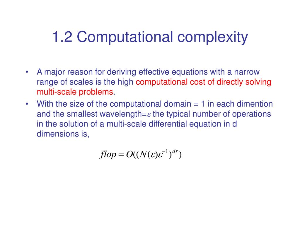 1.2 Computational complexity