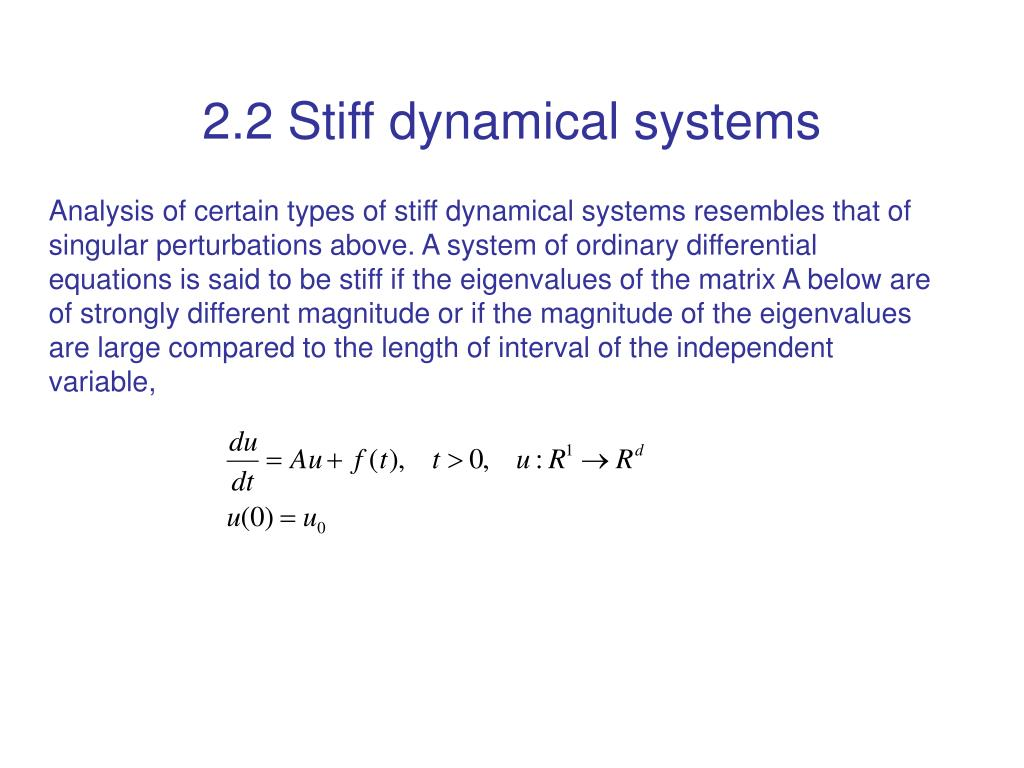 2.2 Stiff dynamical systems