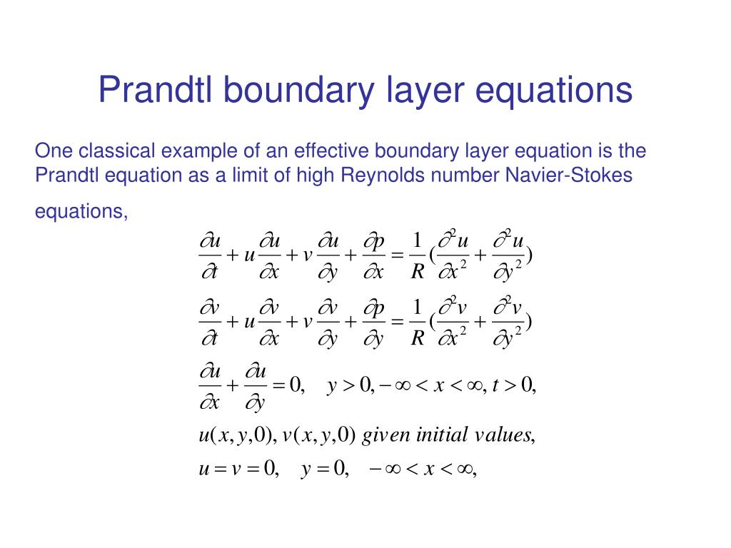Prandtl boundary layer equations