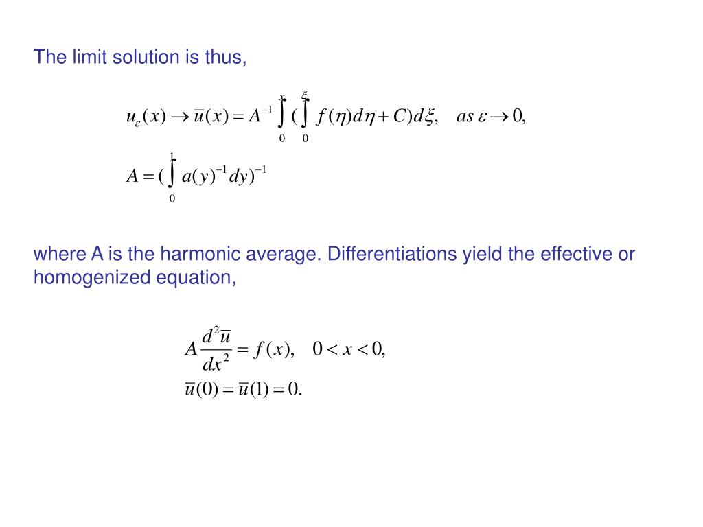 The limit solution is thus,