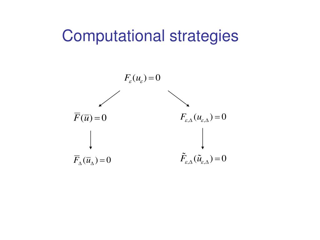 Computational strategies